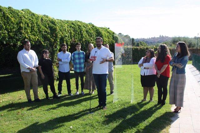 Gutiérrez en Toledo con Juventudes Socialistas