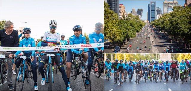 Alejandro Valverde Fiesta de la Bici Movistar