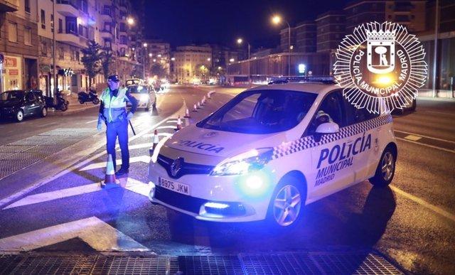 Control de alcoholemia de la Policía Municipal de Madrid