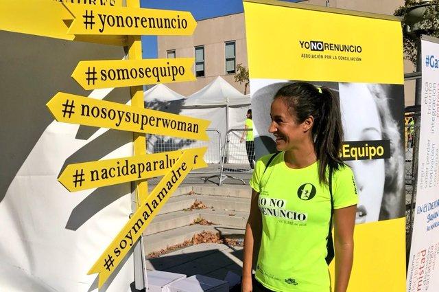 Villacís en la carrera organizada por 'Malasmadres' en Alcobendas
