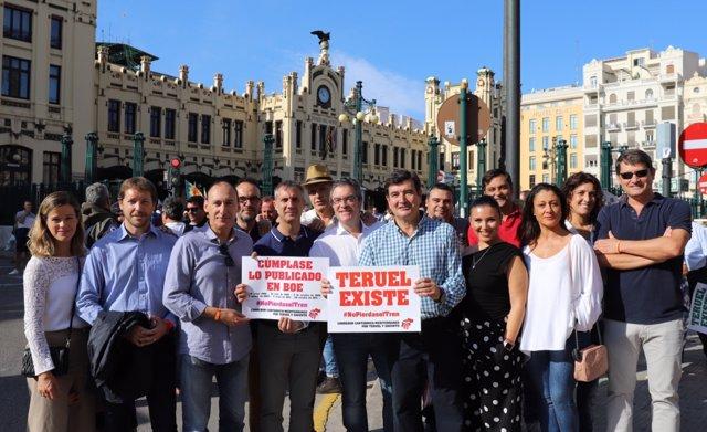 Representantes de Cs, en Valencia.