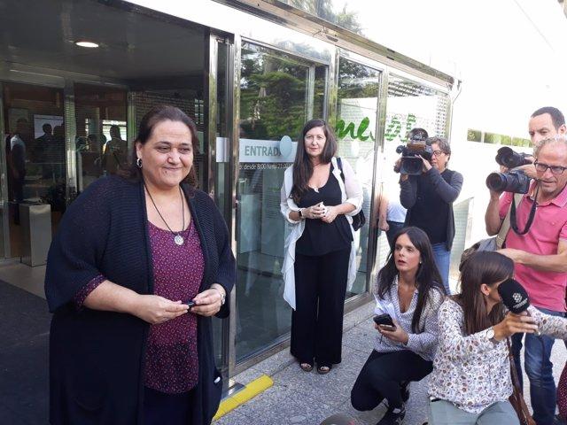 La sobrina de Caballé, Montse Caballé, ante los medios