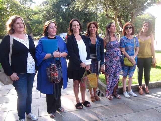La diputada de Podemos Carolina Bescansa en Santiago