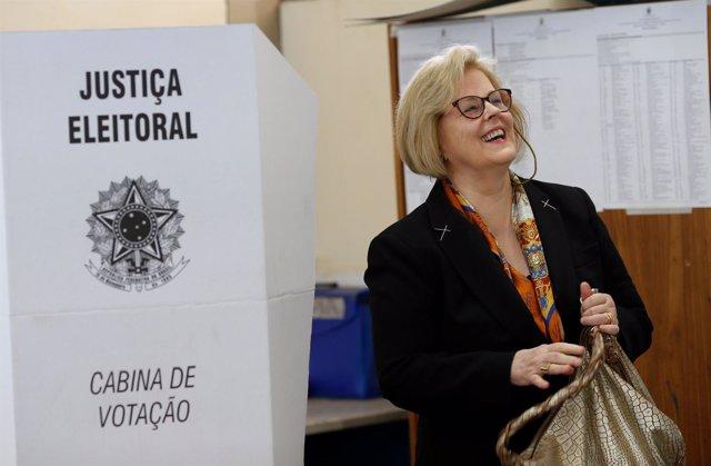 Rosa Weber, presidenta del Tribunal Electoral Superior de Brasil