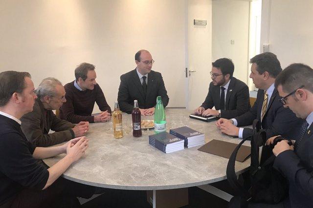 Aragonès aborda la situación catalana con el 'think thank' Common Weal