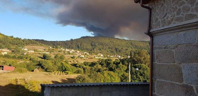 Incendio este domingo 7 de octubre en Mondariz