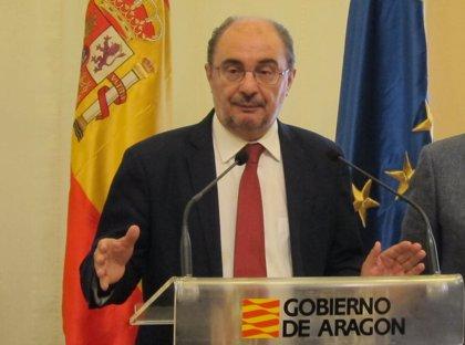 Lambán traslada a Pedro Sánchez las principales reivindicaciones de Aragón este lunes