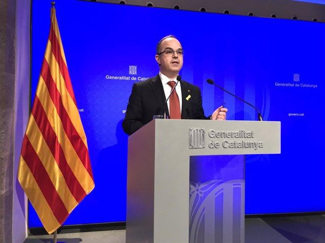 El portavoz del Govern, Jordi Turull, en una foto de archivo