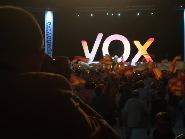 Acto de Vox en Vistalegre (Madrid)