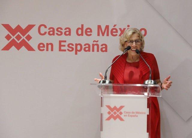 La alcaldesa de Madrid en la Casa de México