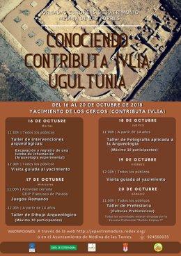 Cartel de las Jornadas Europeas de Patrimonio en Medina de las Torres