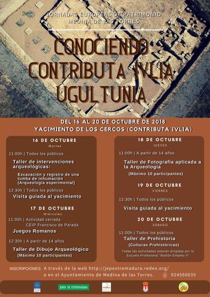 Las Jornadas Europeas de Patrimonio en Medina de las Torres incluirán intervenciones arqueológicas y talleres