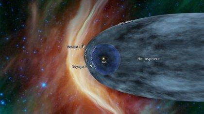 Señales de que la nave Voyager 2 está saliendo del Sistema Solar