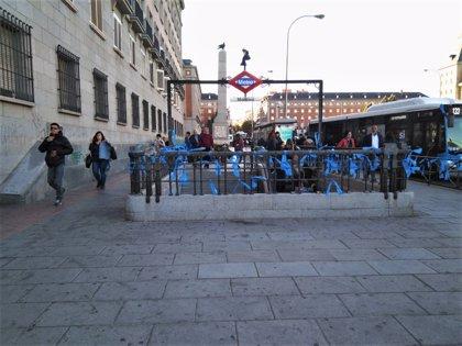 Los lazos azules en apoyo a la Policía Municipal vuelven a las calles de la capital