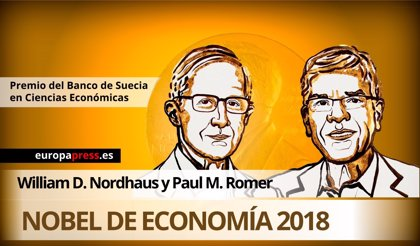 Los estadounidenses William Nordhaus y Paul Romer ganan el Nobel de Economía 2018