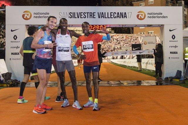 Toni Abadía se sube al podio de Kiptanui y Burka, San Silvestre Vallecana