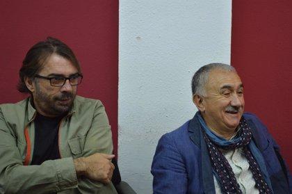 Álvarez (UGT) pide a Torra, PDeCAT y los partidos que votaron a Sánchez que apoyen los PGE