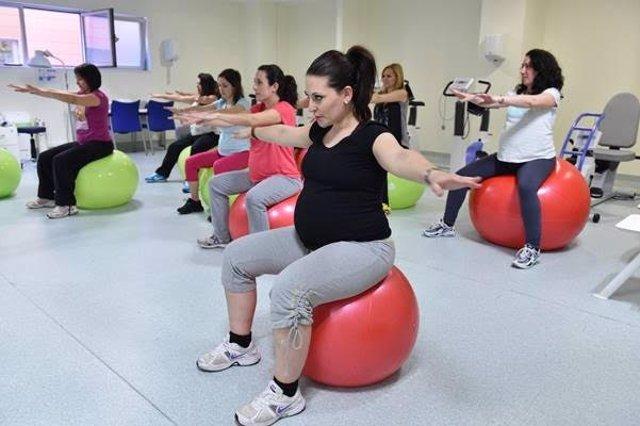 Embarazadas haciendo ejercicio