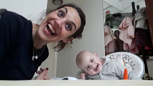 Angelina y su madre