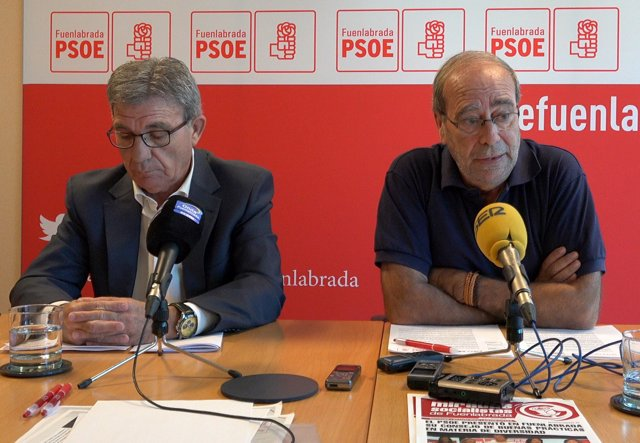El exedil del PSOE de Fuenlabrada José Borrás y Manuel Robles