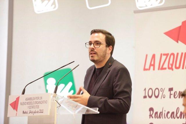 El coordinador federal de Izquierda Unida, Alberto Garzón