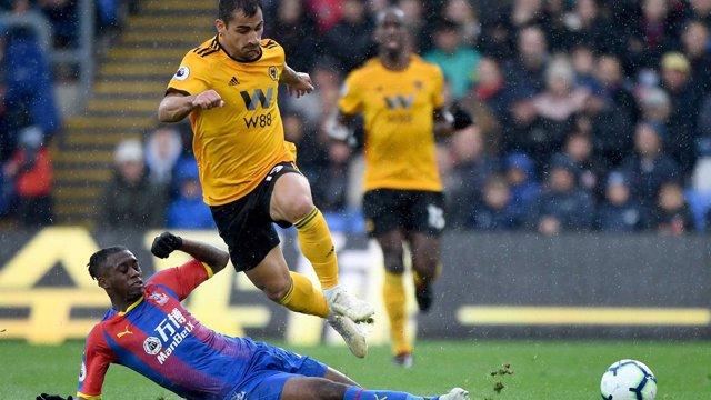 Jonny en un partido con el Wolverhampton