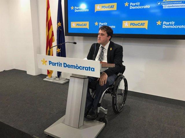 El presidente del PDeCAT, David Bonvehí