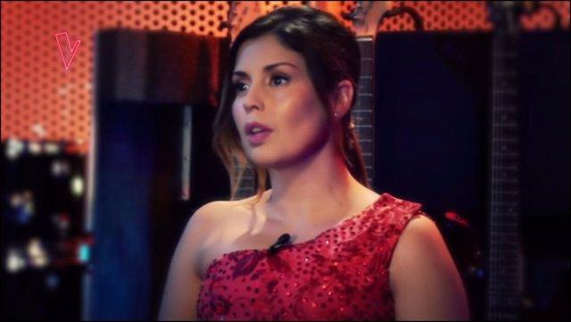 Un instante de la participación de Cristina Ramos en La Voz México
