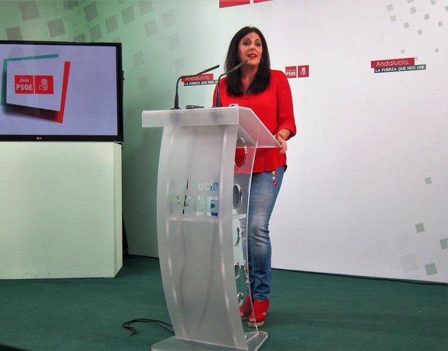Ángeles Férriz en la rueda de prensa.