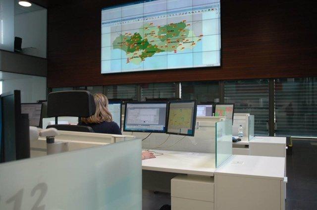 Sala del Servicio de Emergencias 112.