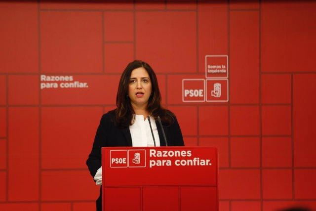 Rueda de prensa de la portavoz del Comité Electoral del PSOE, Esther Peña