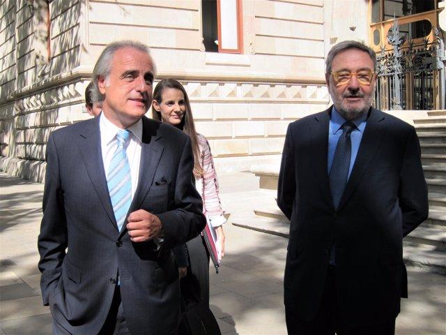 Abogado Pau Molins, Narcís Serra (expresidente de Caixa Catalunya, exministro)