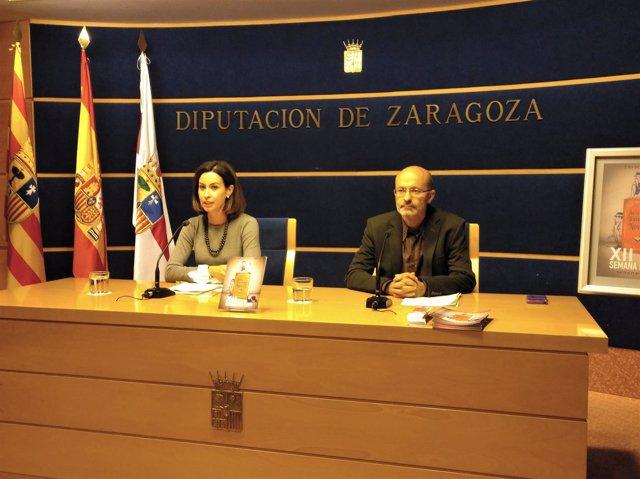 Ladrero y Remón este viernes en rueda de prensa.