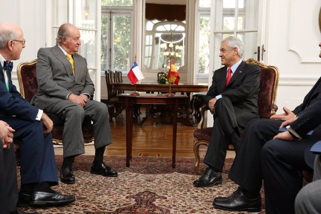 Sebastián Piñera,se reune con el Rey Juan Carlos en su toma de posesión en marzo