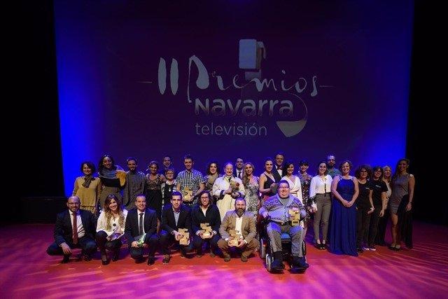 Entrega de los segundos Premios Navarra Televisión.