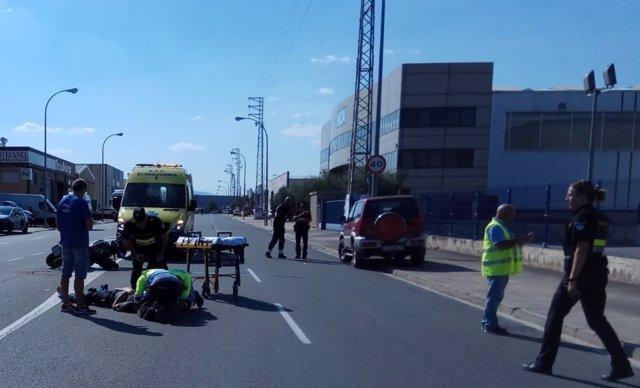Accidente moto en Logroño