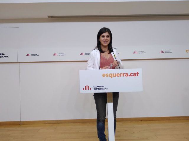 La portavoz de ERC, Marta Vilalta, en rueda de prensa