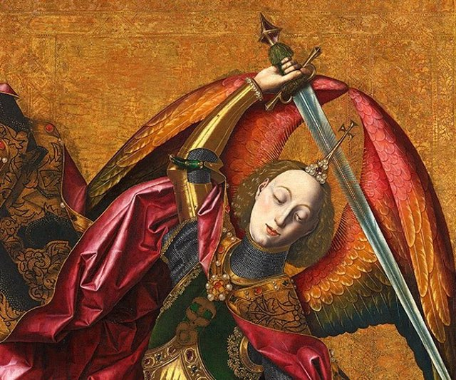 San Miguel triunfante sobre el demonio con Antoni Joan de Bartolomé Bermejo