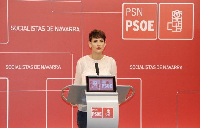María Chivite, secretaria general del PSN.