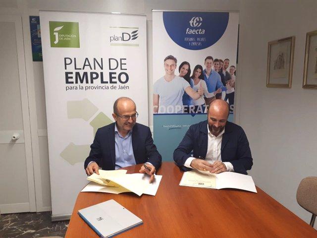 Firma del convenio entre Diputación y Faecta