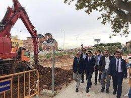 El conseller Damià Calvet visita obras en la C-31