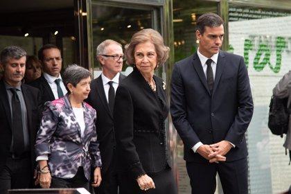 Mero saludo de cortesía entre Sánchez y Torra en el funeral de Montserrat Caballé