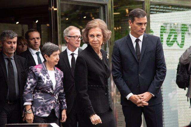 Funeral de la soprano Montserrat Caballé en el tanatorio Les Corts de Barcelona.