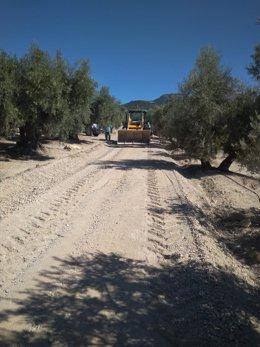Obras en el camino de La Mojonera
