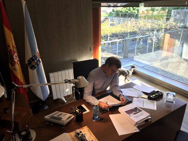Feijóo prepara su intervención en el Debate sobre el Estado de la Autonomía