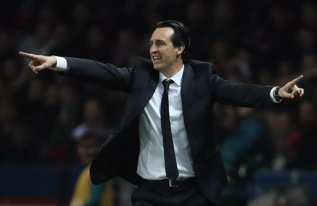 El entrenador del Paris Saint-Germain, Unai Emery