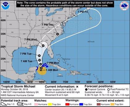 La tormenta Michael se convierte en huracán y pone en alerta a Cuba y México de camino a EEUU