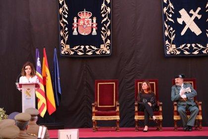 """Rosario Sánchez agradece al coronel Barceló que con su mando """"la Guardia Civil en Baleares ha hecho un trabajo eficaz"""""""