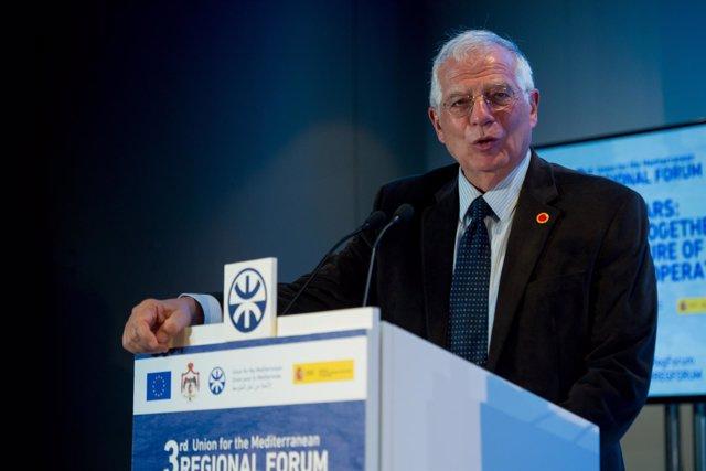 Josep Borrell y Federica Mogherini en el III Foro Regional de la UpM