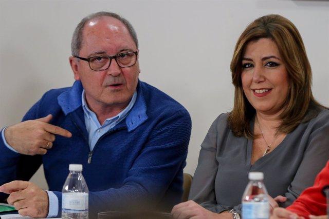 Susana Díaz y Juan Cornejo, este viernes